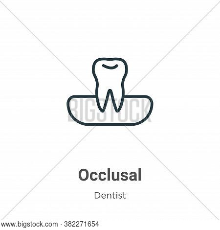 Occlusal icon isolated on white background from dentist collection. Occlusal icon trendy and modern