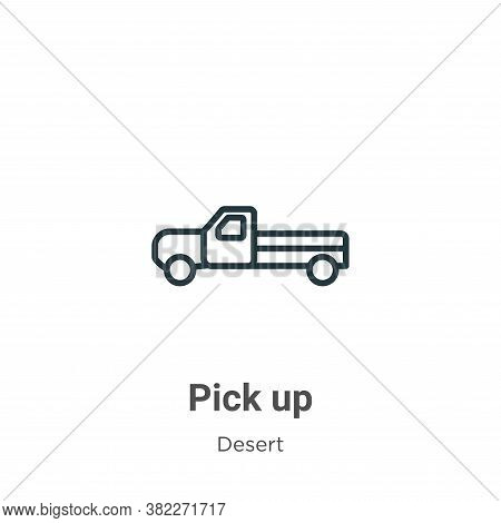 Pick up icon isolated on white background from desert collection. Pick up icon trendy and modern Pic