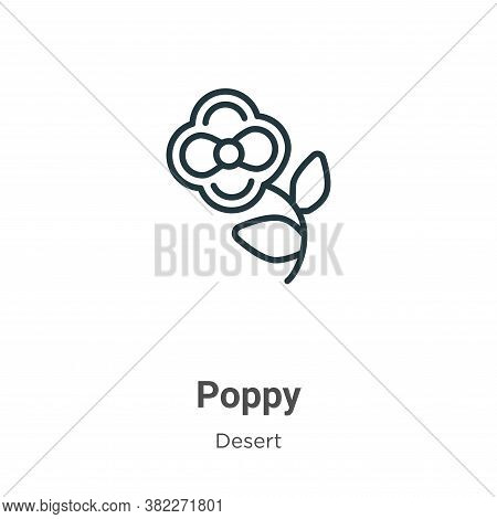 Poppy icon isolated on white background from desert collection. Poppy icon trendy and modern Poppy s