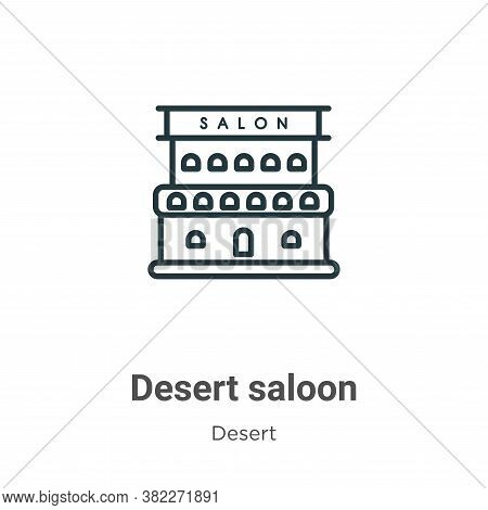 Desert Saloon Icon From Desert Collection Isolated On White Background.