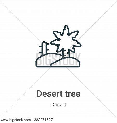 Desert tree icon isolated on white background from desert collection. Desert tree icon trendy and mo