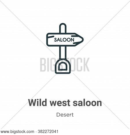 Wild west saloon icon isolated on white background from desert collection. Wild west saloon icon tre