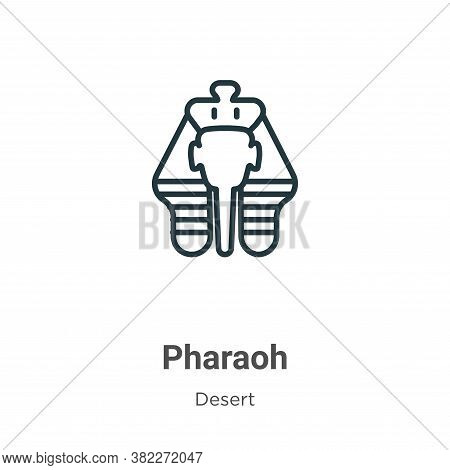 Pharaoh Icon From Desert Collection Isolated On White Background.