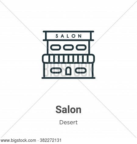 Salon icon isolated on white background from wild west collection. Salon icon trendy and modern Salo