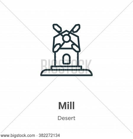 Mill icon isolated on white background from wild west collection. Mill icon trendy and modern Mill s