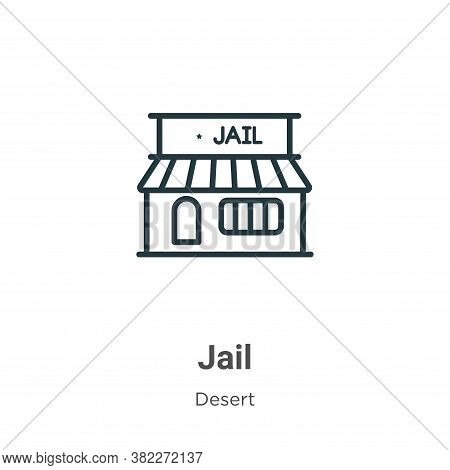 Jail icon isolated on white background from wild west collection. Jail icon trendy and modern Jail s
