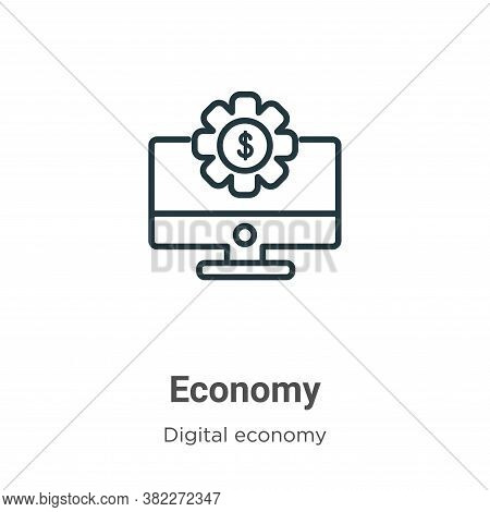 Economy icon isolated on white background from digital economy collection. Economy icon trendy and m