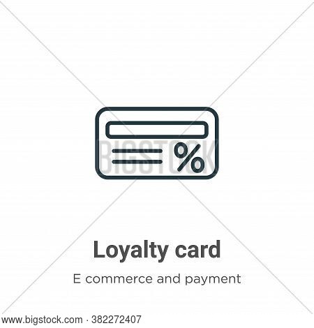Loyalty card icon isolated on white background from e commerce and payment collection. Loyalty card