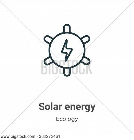 Solar energy icon isolated on white background from ecology collection. Solar energy icon trendy and