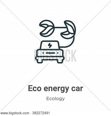Eco energy car icon isolated on white background from ecology collection. Eco energy car icon trendy