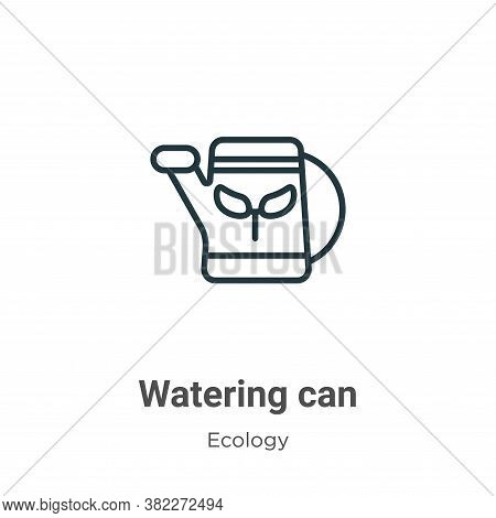 Watering can icon isolated on white background from ecology collection. Watering can icon trendy and