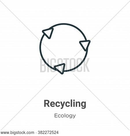 Recycling icon isolated on white background from ecology collection. Recycling icon trendy and moder