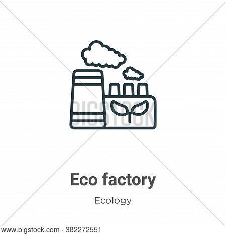 Eco factory icon isolated on white background from ecology collection. Eco factory icon trendy and m