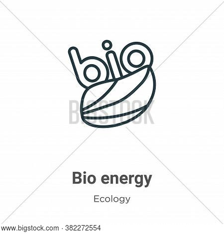 Bio energy symbol icon isolated on white background from ecology collection. Bio energy symbol icon