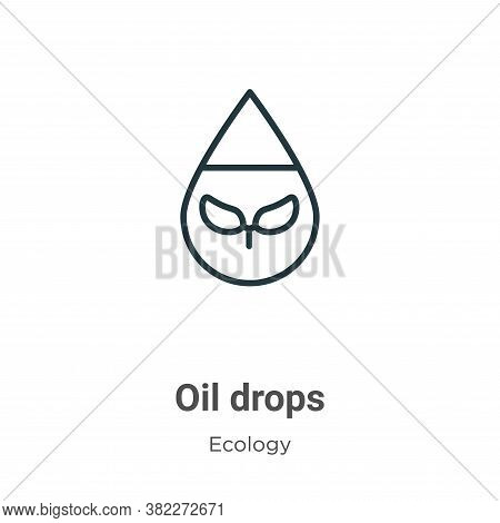 Oil drops icon isolated on white background from ecology collection. Oil drops icon trendy and moder