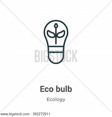 Eco bulb icon isolated on white background from ecology collection. Eco bulb icon trendy and modern