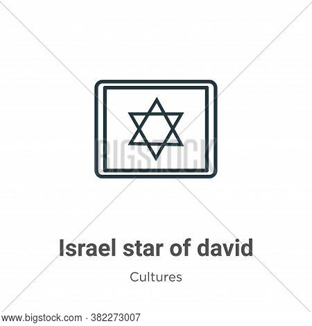 Israel star of david icon isolated on white background from cultures collection. Israel star of davi