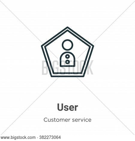 User icon isolated on white background from customer service collection. User icon trendy and modern