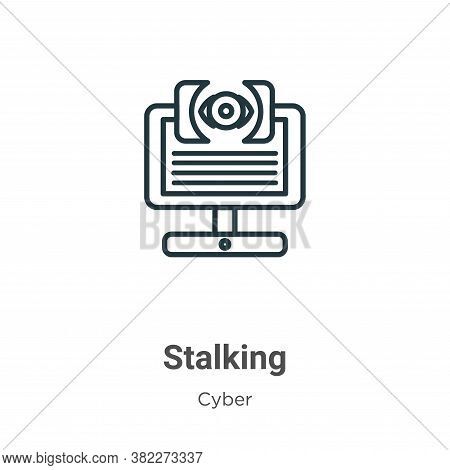 Stalking icon isolated on white background from cyber collection. Stalking icon trendy and modern St