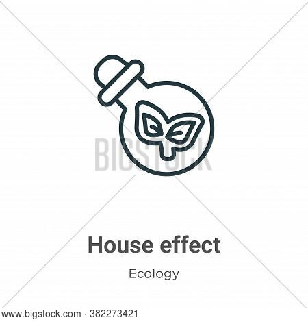 Greenhouse effect icon isolated on white background from ecology collection. Greenhouse effect icon