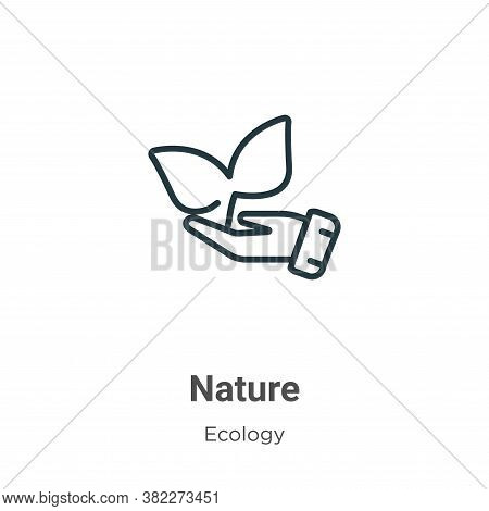 Nature icon isolated on white background from ecology collection. Nature icon trendy and modern Natu