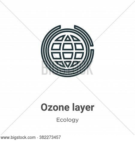 Ozone layer icon isolated on white background from ecology collection. Ozone layer icon trendy and m