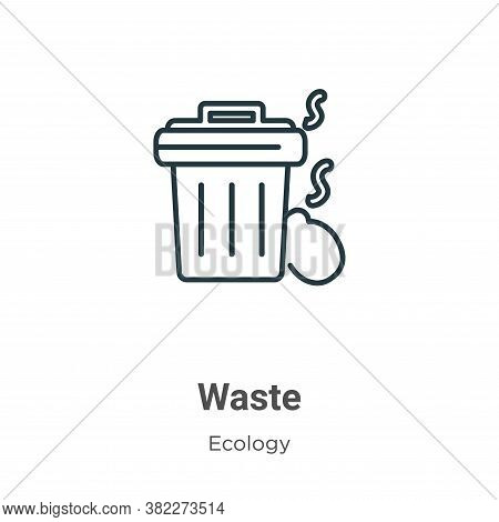 Waste icon isolated on white background from ecology collection. Waste icon trendy and modern Waste