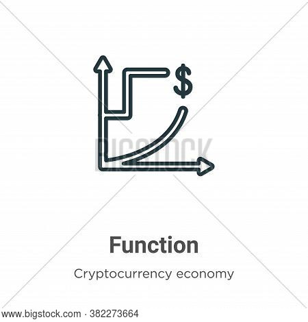 Function icon isolated on white background from cryptocurrency economy and finance collection. Funct
