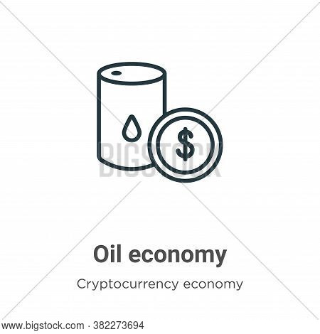 Oil economy icon isolated on white background from cryptocurrency economy and finance collection. Oi