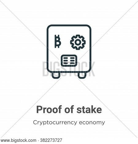 Proof Of Stake Icon From Cryptocurrency Economy And Finance Collection Isolated On White Background.