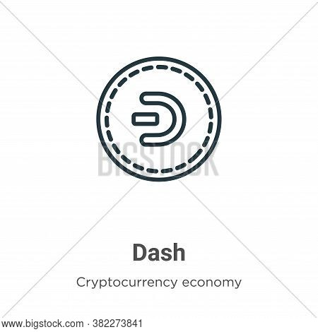 Dash icon isolated on white background from blockchain collection. Dash icon trendy and modern Dash