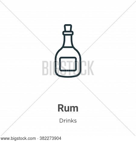 Rum icon isolated on white background from drinks collection. Rum icon trendy and modern Rum symbol