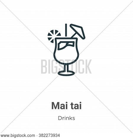 Mai tai icon isolated on white background from drinks collection. Mai tai icon trendy and modern Mai