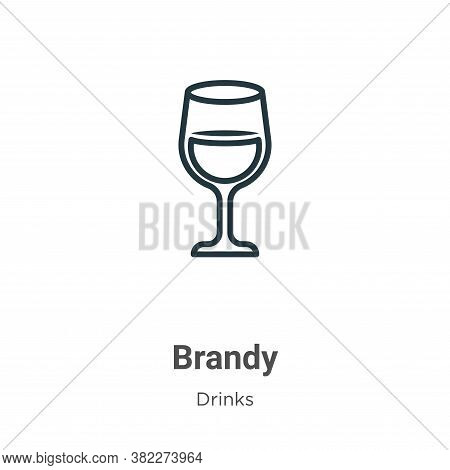 Brandy icon isolated on white background from drinks collection. Brandy icon trendy and modern Brand
