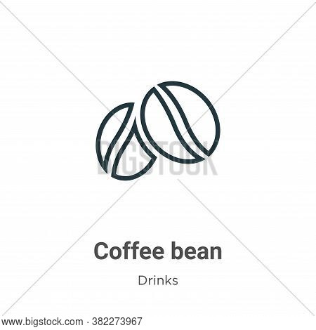Coffee bean icon isolated on white background from drinks collection. Coffee bean icon trendy and mo