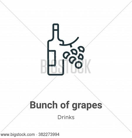 Bunch of grapes icon isolated on white background from drinks collection. Bunch of grapes icon trend