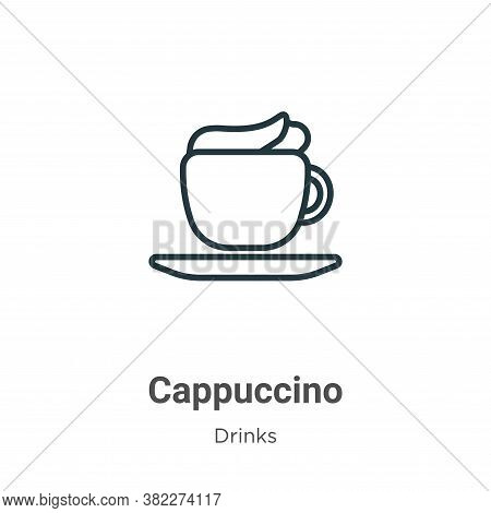 Cappuccino icon isolated on white background from drinks collection. Cappuccino icon trendy and mode