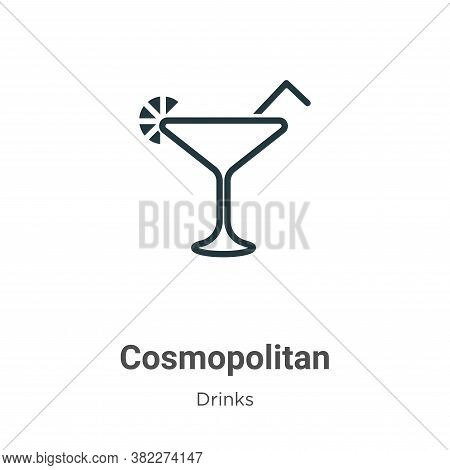 Cosmopolitan icon isolated on white background from drinks collection. Cosmopolitan icon trendy and