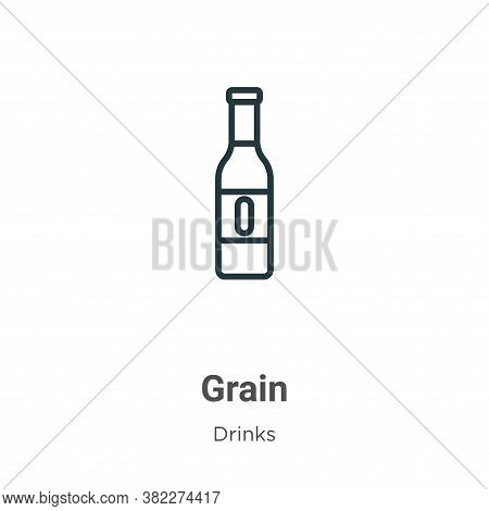Grain icon isolated on white background from alcohol collection. Grain icon trendy and modern Grain