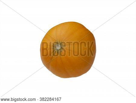 Ripe Dwarf Melon Isolated On White Background.