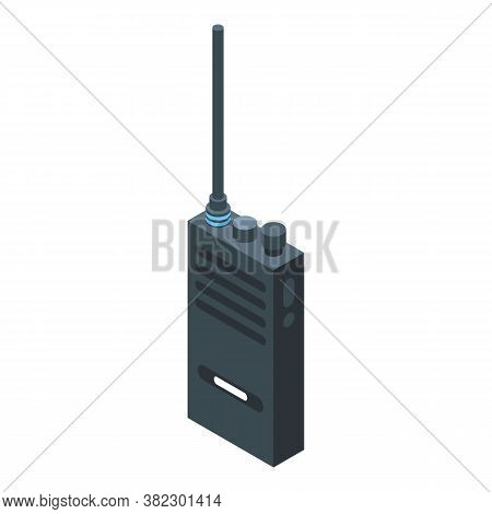 Security Walkie Talkie Icon. Isometric Of Security Walkie Talkie Vector Icon For Web Design Isolated
