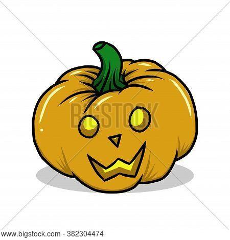 Halloween Pumpkin. Vector Cartoon Pumpkin Faces. Illustration Halloween Scared Face, Pumpkin Smile.