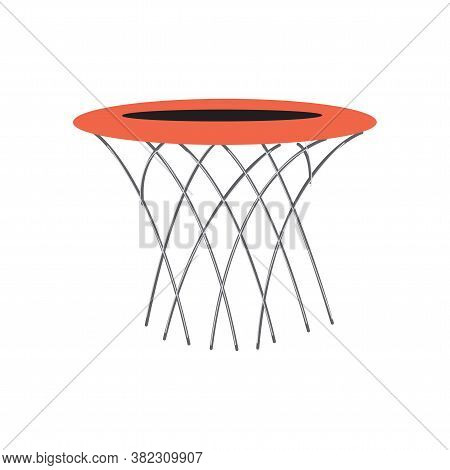 Basketball Hoop And Net Hand Drawn Outline Doodle Icon. Basketball Equipment, Game Goal, Competition