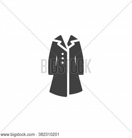 Women Coat With Collar Vector Icon. Filled Flat Sign For Mobile Concept And Web Design. Winter Coat