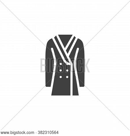 Double-breasted Coat Vector Icon. Filled Flat Sign For Mobile Concept And Web Design. Coat With Butt
