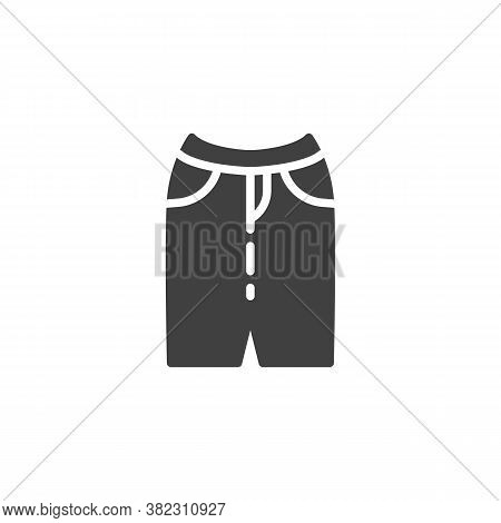 Casual Women Skirt Vector Icon. Filled Flat Sign For Mobile Concept And Web Design. Stylish Skirt Wi