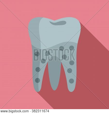 Tooth Caries Icon. Flat Illustration Of Tooth Caries Vector Icon For Web Design