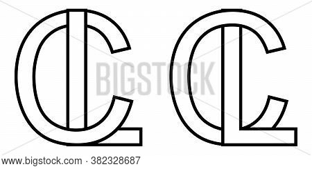 Logo Sign Lc And Cl Icon Sign Two Interlaced Letters L, C Vector Logo Lc, Cl First Capital Letters P