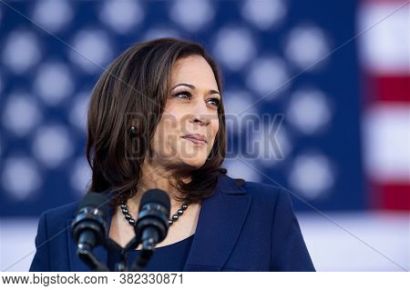 Washigton Dc,united States,february  2020,us Democratic Party Vice President  Candidate Kamala Harri