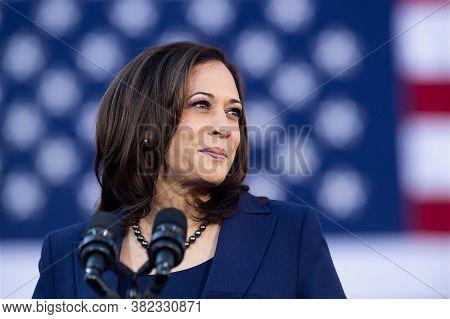 Washigton Dc,united States,february  2020,us Democratic Party Vice President  Candidate Kamala Harri